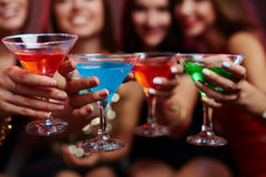 Cheering with cocktails Stock Photos