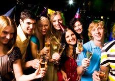 Cheering company Royalty Free Stock Photography