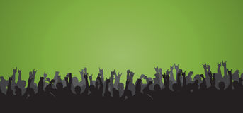 Cheering Crowd 12. Cheering crowd silhouette perfect for adding text and graphical elements Stock Photo