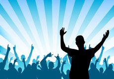 Cheering Crowd. A crowd of cheering people royalty free illustration