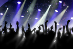 Cheering Crowd Royalty Free Stock Images