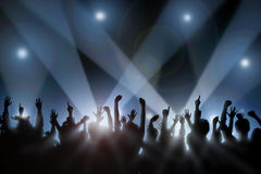 Cheering Crowd vector illustration