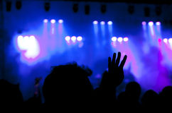 Cheering crowd at concert Stock Photography