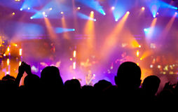 Cheering crowd at concert Royalty Free Stock Photography