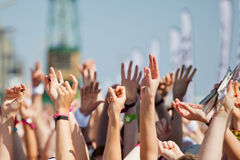Cheering crowd Royalty Free Stock Photo