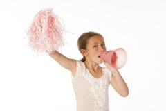 Cheering da menina Foto de Stock Royalty Free