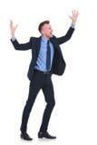 Cheering do homem de negócio Imagens de Stock Royalty Free