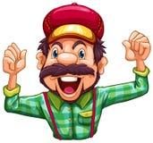 Cheering do lenhador Imagens de Stock Royalty Free