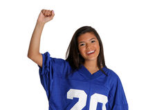 Cheering Fan Royalty Free Stock Image