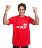 Cheering fan from Chile Royalty Free Stock Images