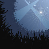 Cheering Fans. Fans raise their hands at concert (avail. in EPS Royalty Free Stock Image