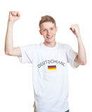 Cheering german sports fan Royalty Free Stock Photo