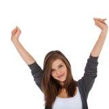 Cheering girl Stock Photos