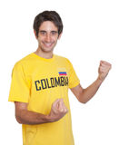 Cheering guy from Colombia Stock Images