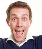 Cheering happy man Stock Images