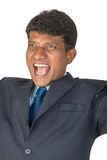 Cheering Indian man stock photography