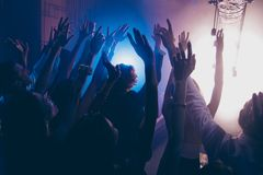 Cheering live show performance concept. Crowd shadow of people a royalty free stock images