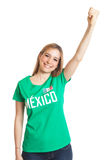 Cheering mexican woman Royalty Free Stock Image