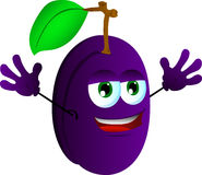 Cheering plum Royalty Free Stock Photography