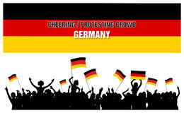Cheering or Protesting Crowd Germany Stock Images
