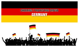Cheering or Protesting Crowd Germany Royalty Free Stock Images