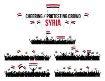 Cheering or Protesting Crowd Syria Stock Photography