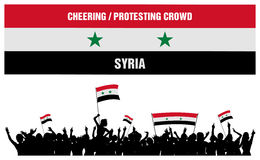Cheering or Protesting Crowd Syria Stock Images