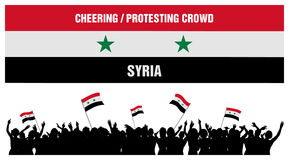 Cheering or Protesting Crowd Syria Royalty Free Stock Image
