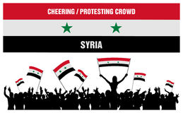 Cheering or Protesting Crowd Syria Stock Photos