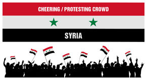 Cheering or Protesting Crowd Syria Royalty Free Stock Photography