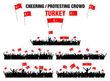 Cheering or Protesting Crowd Turkey Royalty Free Stock Photos
