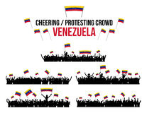 Cheering or Protesting Crowd Venezuela Royalty Free Stock Photo