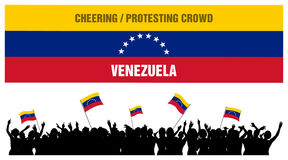 Cheering or Protesting Crowd Venezuela Stock Photo