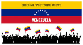 Cheering or Protesting Crowd Venezuela Stock Photography