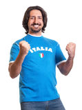 Cheering sports fan from Italy Royalty Free Stock Image