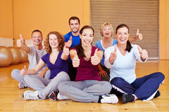 Cheering sports group holding Stock Photography