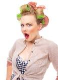 Cheering stylish woman Stock Image