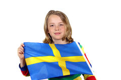 Cheering Sweden Stock Image