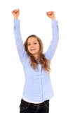 Cheering teenage girl Stock Image