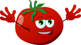 Cheering tomato Stock Image