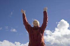 cheering woman young Στοκ εικόνες με δικαίωμα ελεύθερης χρήσης