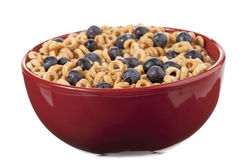 Cheerios with blueberry Royalty Free Stock Photo