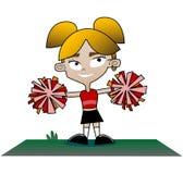 Cheerleader. Vector image of a cheerleader Stock Image