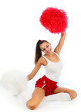 Cheerleader Stockbild