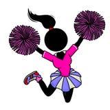 Cheerleader. Silhouette-woman in action icon - cheerleader Stock Photos