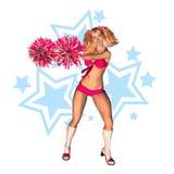 cheerleader illustrazione di stock