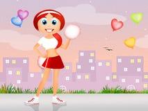cheerleader royalty illustrazione gratis