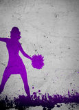 Cheerleader background Royalty Free Stock Images