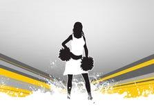 Cheerleader background Stock Images