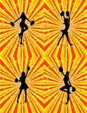 Cheerleader Background! Set of 4! Vector / Eps 8 Royalty Free Stock Photos